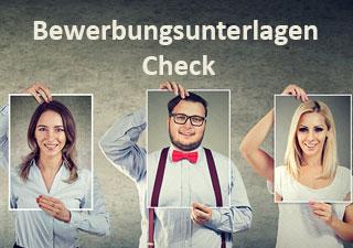 Bewerbungsunterlagen Check